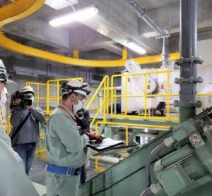 位置情報および画像伝送システム実証実験の様子1