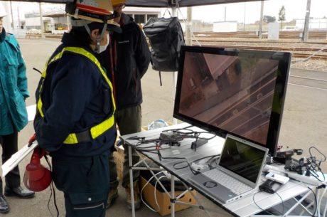 地下鉄車両基地における巡回警備の実証実験