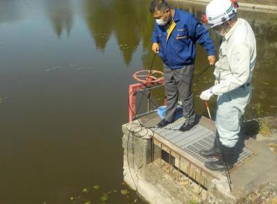 水位監視システム実証実験の様子2